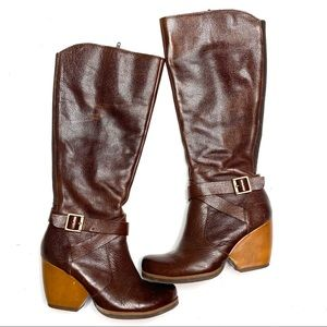Kork-Ease Taupe Natali Tall Leather Riding Boots